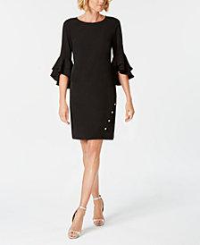 MSK Petite Bell-Sleeve Rhinestone Dress