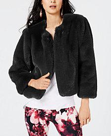 Thalia Sodi Faux-Fur Jacket, Created for Macy's