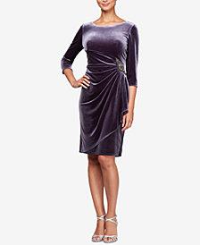 Alex Evenings Velvet Embellished Sheath Dress