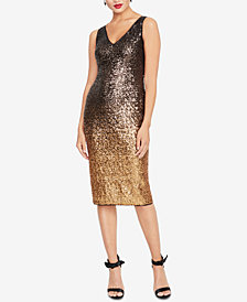 RACHEL Rachel Roy Ombré Sequined Sheath Dress