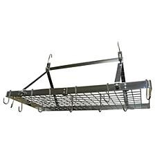 Stainless Steel Rectangular Ceiling Pot Rack