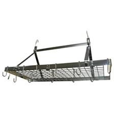 Range Kleen Stainless Steel Rectangular Ceiling Pot Rack