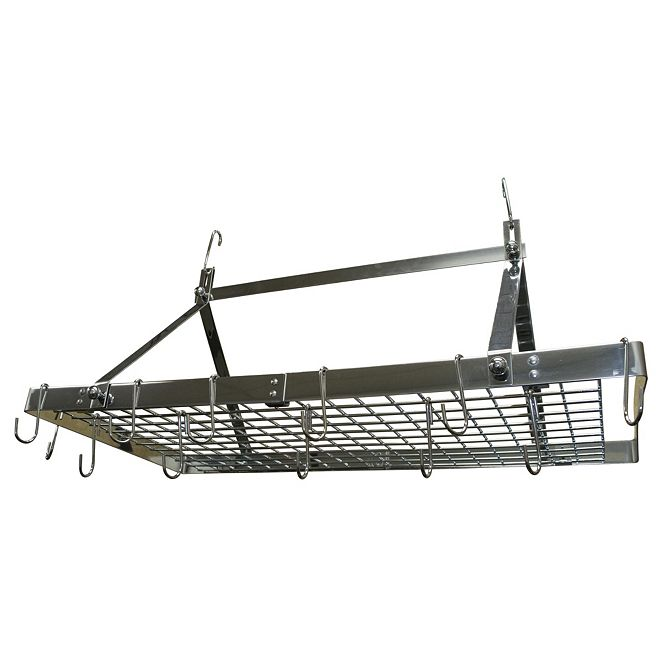 Range Kleen Stainless Steel Rectangular Ceiling Pot Rack