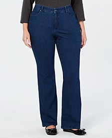 Plus Size Prescott Bootcut Tummy-Control Jeans, Created for Macy's