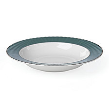 Lenox Pleated Colors Teal  Pasta/Rim Soup