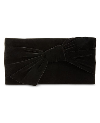 I.N.C. Bowah Hands Through Velvet Clutch, Created For Macy's by Inc International Concepts