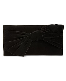 I.N.C. Bowah Hands Through Velvet Clutch, Created for Macy's