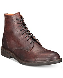 Frye Men's Seth Cap-Toe Leather Lace-Up Boots, Created for Macy's