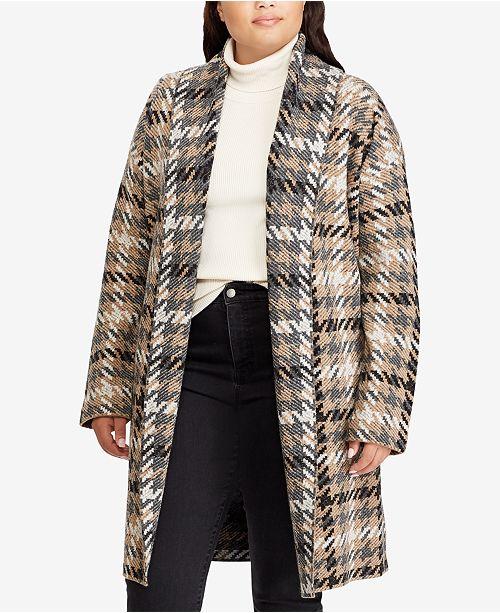 ... Lauren Ralph Lauren Plus Size Houndstooth Wool Cardigan ... 96cdc0a49