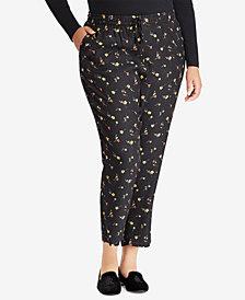Lauren Ralph Lauren Plus Size Floral-Print Pants
