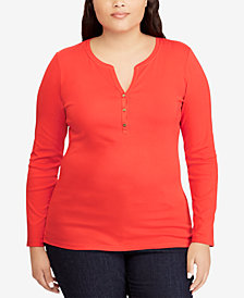 Lauren Ralph Lauren Plus Size Henley Top
