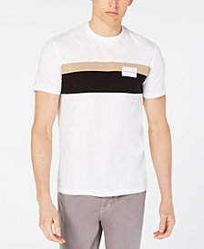 Calvin Klein Jeans Men's Chest-Striped Logo T-Shirt