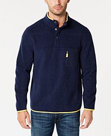 Club Room Men's Fleece Mock-Collar, Created for Macy's