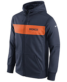 Nike Men's Denver Broncos Seismic Therma Full-Zip Hoodie