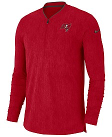 Nike Men's Tampa Bay Buccaneers Coaches Quarter-Zip Pullover