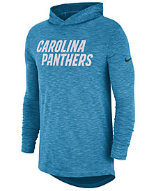 Nike Men's Carolina Panthers Dri-Fit Cotton Slub On-Field Hooded T-Shirt