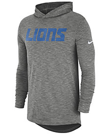 Nike Men's Detroit Lions Dri-Fit Cotton Slub On-Field Hooded T-Shirt