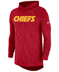 Nike Men's Kansas City Chiefs Dri-Fit Cotton Slub On-Field Hooded T-Shirt