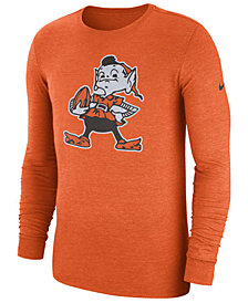 Nike Men's Cleveland Browns Historic Crackle Long Sleeve Tri-Blend T-Shirt
