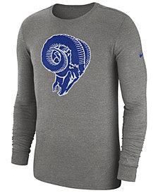 Nike Men's Los Angeles Rams Historic Crackle Long Sleeve Tri-Blend T-Shirt
