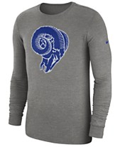 eea4d49c3 Nike Men s Los Angeles Rams Historic Crackle Long Sleeve Tri-Blend T-Shirt