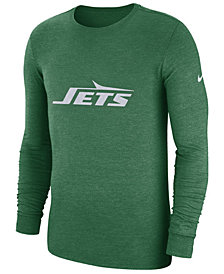 Nike Men's New York Jets Historic Crackle Long Sleeve Tri-Blend T-Shirt