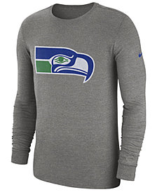 Nike Men's Seattle Seahawks Historic Crackle Long Sleeve Tri-Blend T-Shirt