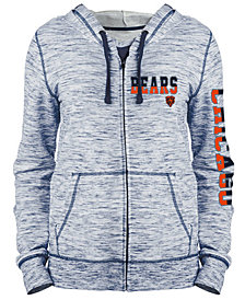 5th & Ocean Women's Chicago Bears Space Dye Full-Zip Hoodie