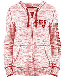 5th & Ocean Women's San Francisco 49ers Space Dye Full-Zip Hoodie