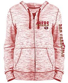 5th & Ocean Women's San Francisco 49ers Space Dye Full-Zip Hoodie