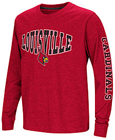 Colosseum Louisville Cardinals Spike Long Sleeve T-Shirt, Big Boys (8-20)