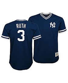 Outerstuff Babe Ruth New York Yankees Mesh V-Neck Player Top, Big Boys (8-20)