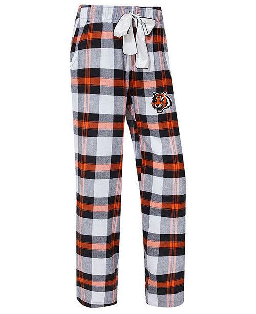 Concepts Sport Women s Cincinnati Bengals Headway Flannel Pajama ... 86d6375ed6