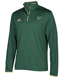 adidas Men's South Florida Bulls Team Iconic Quarter-Zip Pullover