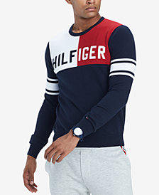 Tommy Hilfiger Men's Bedford Colorblocked Logo Sweater, Created for Macy's