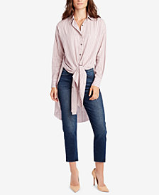 WILLIAM RAST Tie-Hem Tunic Shirt