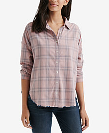 Lucky Brand Raw-Hem Corduroy Shirt