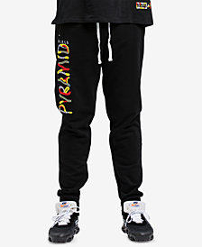 Black Pyramid Men's Whimsical Logo Graphic Track Pants