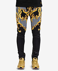 Hudson NYC Men's Baroque Graphic Track Pants