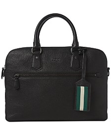 Polo Ralph Lauren Men's Pebbled Briefcase