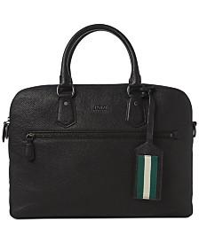Polo Ralph Lauren Men's Pebbled Briefcase
