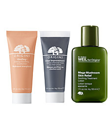 Receive a Free 3pc Skincare gift with any $100 Origins Purchase