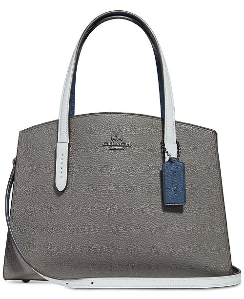aa34dce1506 COACH Colorblocked Charlie 28 Carryall in Pebble Leather - Handbags ...