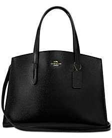 COACH Charlie Carryall in Crossgrain Patent Leather