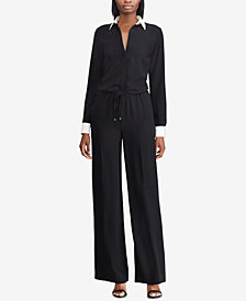 Lauren Ralph Lauren Layered-Look Wide-Leg Jumpsuit