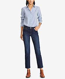 Super Stretch Modern Curvy Straight Jeans, Regular & Short Lengths
