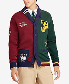 Polo Ralph Lauren Men's Fleece Patchwork Cardigan