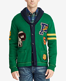 Polo Ralph Lauren Men's Big & Tall Cotton Letterman Sweater