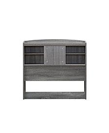 Martucci Modern Twin-Size Bookcase Headboard