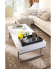 Jerri Gloss Coffee Table With Tray